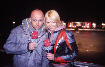 File:Combat cars presenters with mics.jpg